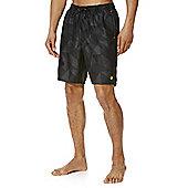 F&F Tonal Geo Print Mid Length Swim Shorts - Grey