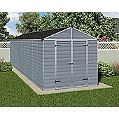 Palram Skylight Grey Plastic Shed, 8x20ft