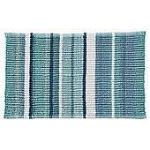 Teal Stripe Bath Mat