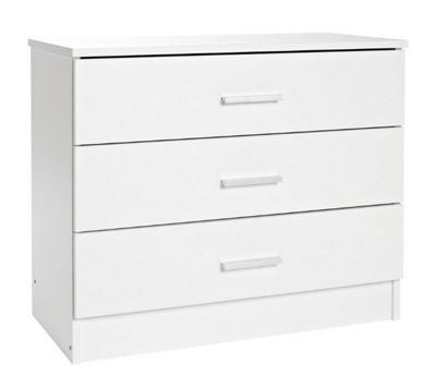 Kit Form Bella 3 Drawer Wide Chest - White