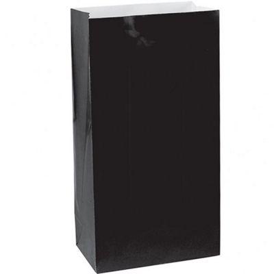 Black Party Bags - Paper 24cm