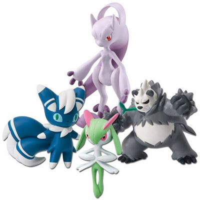Pokemon XY 4 Figure Gift Pack - Mega Mewtwo & Meowstic & Pangoro & Kirlia