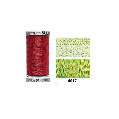 Gutermann Sulky Variegated Cotton 300m Lime Sherbet