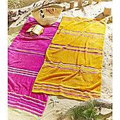 Catherine Lansfield Rainbow Pairs Beach Towel - Pink