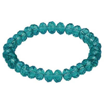 Green Glass Bead Stretch Bracelet