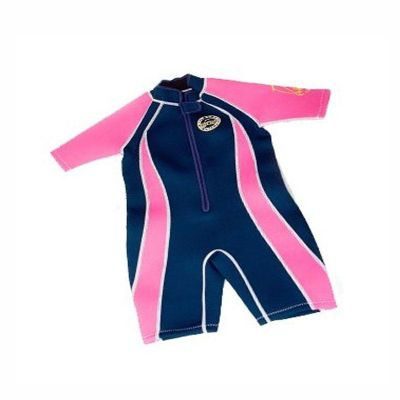 Jakabel Front Zip Shorty Wetsuit Navy/Pink 6-7 Years