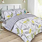 Dreamscene Duvet Cover Set, Allium Floral - Grey