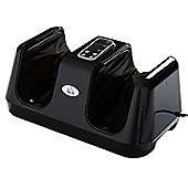 Homcom Portable Heated Electric Kneading Foot Massager (Black)