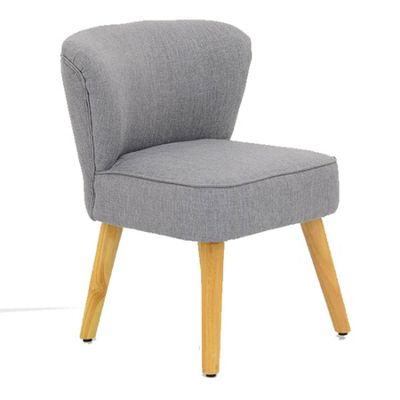 Melody Small Grey Fabric Bedroom Accent Chair
