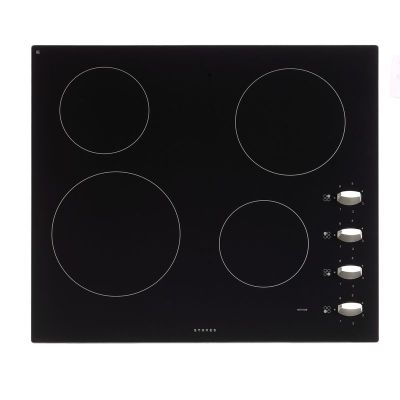Stoves SEH600CRMK2 Built In Ceramic Hob in Black 4 cooking areas