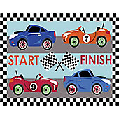 Racing Car Mat 60 x 90 cm