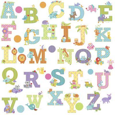 Baby Wall Stickers, Nursery Wall Stickers, Kids Wall Stickers - Happy Animal Alphabet