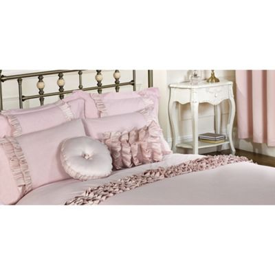 Cascade Home Harmony Pair of Pink Housewife Pillowcases - 50x75cm