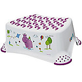 Hippo Baby Step Stool White