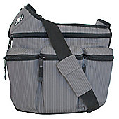 Diaper Dude Original Messenger I Changing Bag Grey Pinstripe