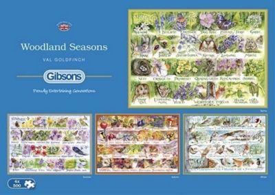 Woodland Seasons - 4 x 500pc Puzzle