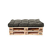 Gardenista Tufted Seat Pad in Water Resistant Fabric for Pallet Furniture Seating - Grey