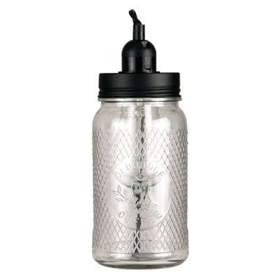 Owl Design Glass Jar Table Lamp