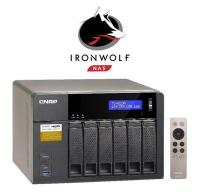 QNAP TS-653A-4G/12TB-IW 6-Bay 12TB(6x2TB Seagate IronWolf) Network Attached Storage with 4GB RAM