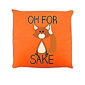 Oh For Fox Sake Cushion 40x40cm, Orange