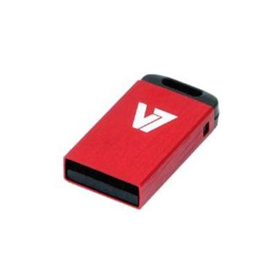 V7 VU28GCR 8 GB USB 2.0 Flash Drive - Red