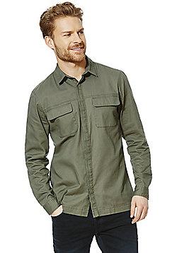 F&F Military Shacket - Khaki