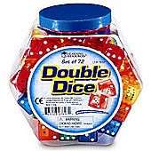Learning Resources Dice in Dice Bucket (Set of 72)