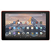 Fire HD 10 Tablet with Alexa Hands-Free, Full HD Display, 32 GB, Red
