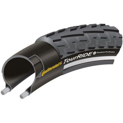 Continental TourRIDE Rigid Tyre in Black/Reflex - 700 x 37mm