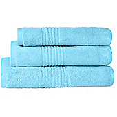 Highams Luxury 100% Egyptian Cotton 550 GSM Towel Bale - 3 Piece Set - Soft blue