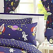 Space and Rocket Curtains with Free Rocket Cushion