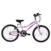 "Ammaco Diamond 20"" Wheel Kids MTB Bike 7+ Pink"