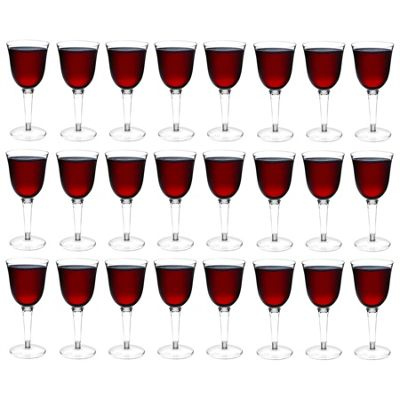 Rink Drink Plastic Red / White Wine Outdoor Glasses - Pack Of 24