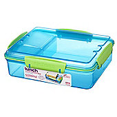 Sistema 975ml Multi Compartment Snack Attack Duo Lunch Box, Blue
