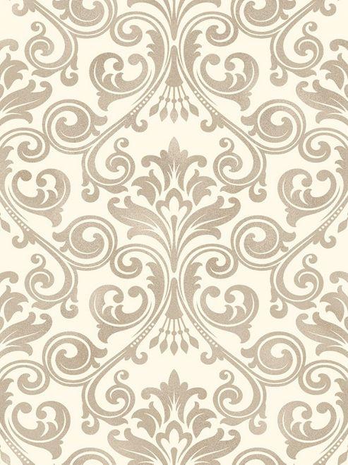 Fine Decor Wentworth Damask Wallpaper Cream Gold FD41706