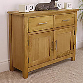 Nebraska Modern Oak Sideboard / Small Oak 2 Door 2 Drawer Sideboard