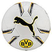 Puma Dortmund Hybrid Football Soccer Ball White/Yellow