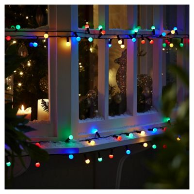 100 berry christmas lights coloured