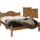 Nordic Pine Bedside, Bedside, Double Bed Package