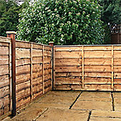 4FT Lap Panel Overlap Fencing Panel - 1 Panel Only 4' - Fast Delivery - Pick A Day