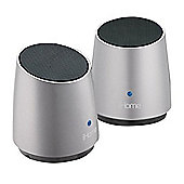 iHome iHM89 Mini Portable Rechargeable Speaker For MP3 - Silver