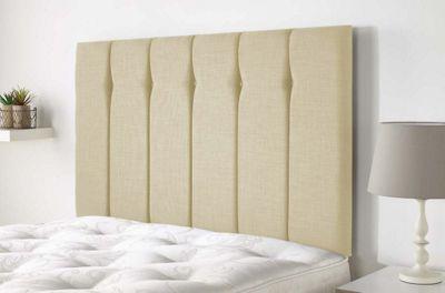 Aspire Furniture Amberley Headboard in Malham Weave Fabric - Cream - Single 3ft