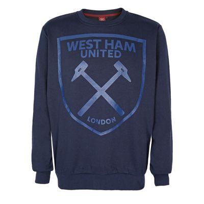 West Ham United FC Mens Sweatshirt Navy Large
