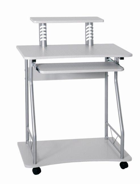 Urbane Designs Mette Computer Desk - Aluminium / White