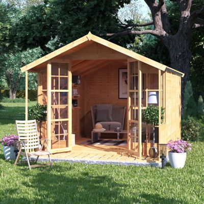 12x8 BillyOh Lily Tongue and Groove Apex Summerhouse