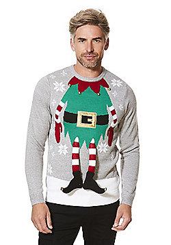 F&F Elf Christmas Jumper - Grey