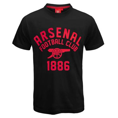 Arsenal FC Mens Graphic T-Shirt Black XXL