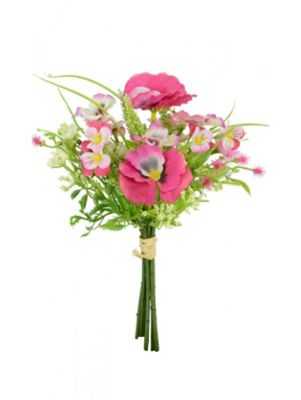 Artificial - Pansy Blossom Bundle - Pink