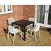 Brackenstyle Madrid Table and 4 Tropical White Orion Chairs - Seats 4