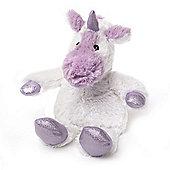 Intelex Warmies Heatable Sparkly Unicorn White Microwavable Cozy Plush Soft Toy